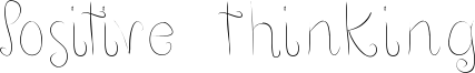 Positive thinking Font