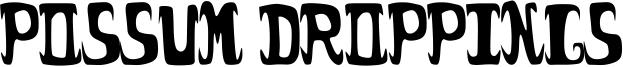 Possum Droppings Font