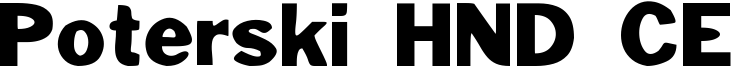 Poterski HND CE Font