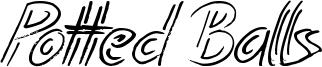 Potted Balls Font