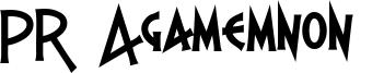 PR Agamemnon  Font