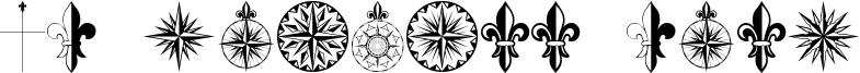 PR Compass Rose Font