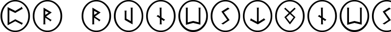 PR Runestones 2 Font