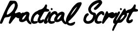 Practical Script Font