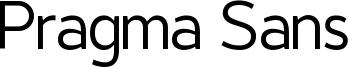 Pragma Sans Font
