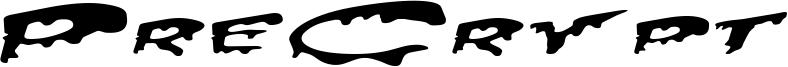 PreCrypt Font