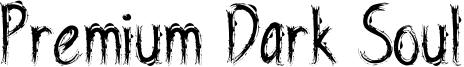 Premium Dark Soul Font