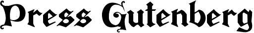 Press Gutenberg Font