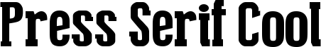 Press Serif Cool Font