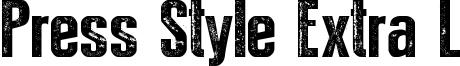 Press Style Extra L Font