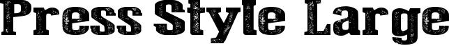Press Style  Large Font