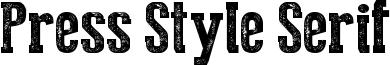Press Style Serif Font
