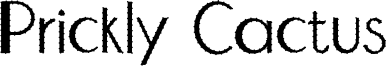 Prickly Cactus Font