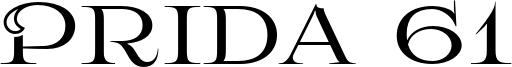 Prida 61 Font