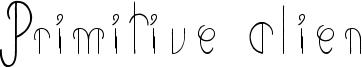 Primitive Alien Font