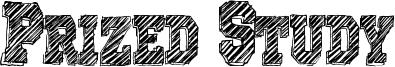 Prized Study Font
