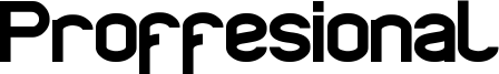 Proffesional Font