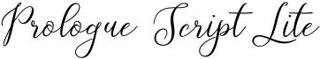 Prologue Script Lite Font