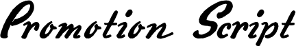 Promotion Script Font