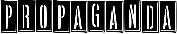 Propaganda Font