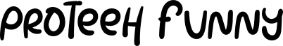Proteeh Funny Font