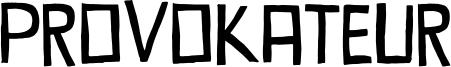 Provokateur Font