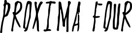 Proxima Four Font