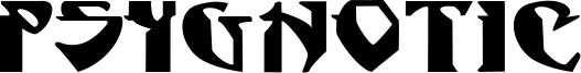Psygnotic Font