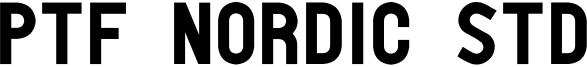 PTF Nordic Std Font