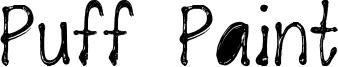 Puff Paint Font