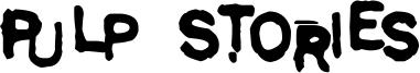 Pulp Stories Font