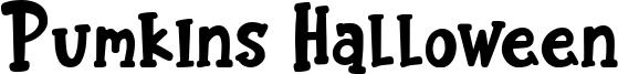 Pumkins Halloween Font