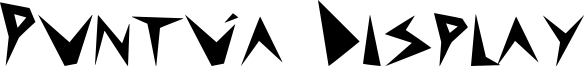 Puntúa Display Font