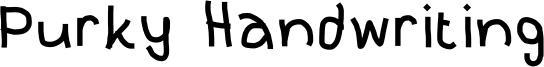 Purky Handwriting Font