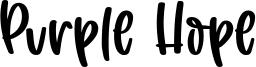 Purple Hope Font