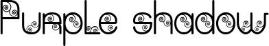 Purple shadow Font