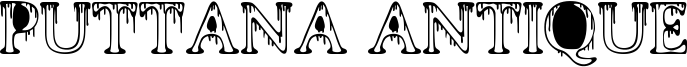 Puttana Antique Font