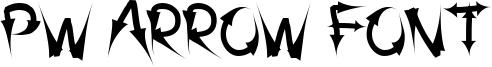 PW Arrow font Font