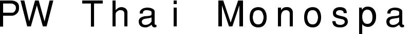 PW Thai Monospaced EG Font