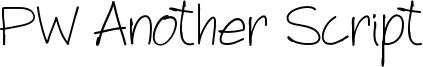 PW Another Script Font