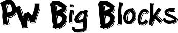 PW Big Blocks Font