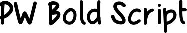 PW Bold Script Font