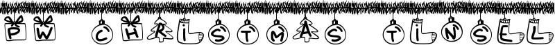 PW Christmas Tinsel Font