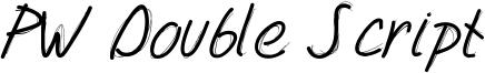PW Double Script Font
