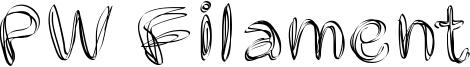 PW Filament Font
