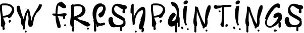 PW Freshpaintings Font