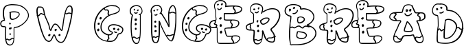 PW Gingerbread Font