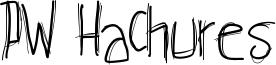 PW Hachures Font