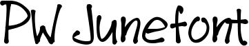 PW Junefont Font