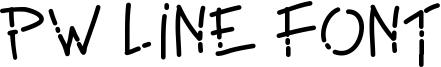 PW Line Font Font